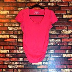 Medium Pink Motherhood Maternity T-Shirt